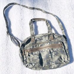 Green Camouflage Large Crossbody Tote Bag $20.50