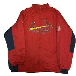 New Mlb St Louis Cardinals Therma Base Majestic Performance Apparel Jacket 5xl