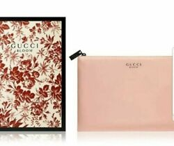 GUCCI BLOOM Peach Pink Makeup Pouch Cosmetic Bag NEW IN BOX $29.99