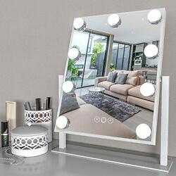 LIGHTED VANITY MIRROR with Lights Magnification LED Dimmable Bulbs White FENAIR