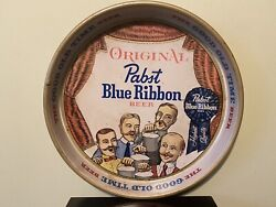 Vintage 1960s Pabst Blue Ribbon Beer Tray The Good Old Time Beer