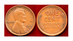 1914-d 1c Wheat Lines Are Complete And Well Defined On Both Sides-lincoln Wheat C
