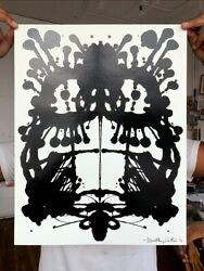 Timothy Curtis Inkblot Face No.106 2020 Bikes Signed Numbered W/coa Ed. 3 Of 25