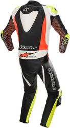 Alpinestars Gp Tech One-piece Leather Suits V3 50 Blue Hi-vis Yellow Red