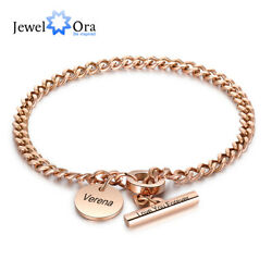 Personalized Women Name Bracelet Stainless Steel Bangle Jewelry Gift For Women $11.29