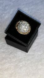 Men's Real Diamond Kentucky Cluster Ring 2.10 Ctw. In 14k Real Gold Big Sz 9