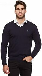 Polo Men's Classic Fit Long Sleeve V-neck Pima Cotton Sweater