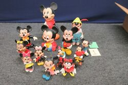 13 Walt Disney Minnie Mickey Mouse Coin Bank Squeaker Toy Vintage