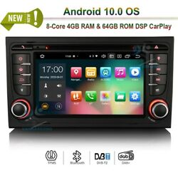 7android 10.0 Head Unit Dvd Radio Bt Wifi Gps Navi For Audi A4 Rs4 S4 Seat Exeo