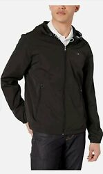 Calvin Klein Menand039s Lightweight Water And Wind Resistant Jacket With Hood M Nwt