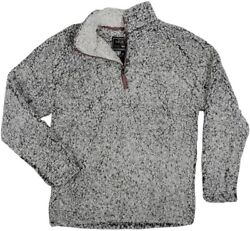 True Grit Menand039s Frosty Tipped Pile 1/4 Zip Pullover