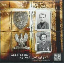 Poland 2020 Gorgets Of Cursed Soldiers, Anti-soviet Resistance, History Mnh