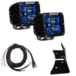 Rigid For 2007-2015 Jeep Jk Blue And A-pillar Mount And Harness 40139+20201+40300