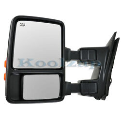 Superduty Truck Power Heated Signal Telescoping Folding Mirror Left Driver Side