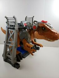 Fisher-price Imaginext Jurassic World Escape T-rex Complete W/ 3-level Playset