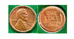 1919-d Rb-1c -pure Red Brown Color-lincoln Wheat Cent++