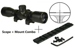 Rangefinder 4x32 Compact Scope,1 Tube Weaver/picatinny Rail Fits Ruger 10/22