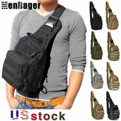 Men Molle Tactical Sling Chest Bag Backpack Assault Pack Messenger Shoulder Bag $10.99