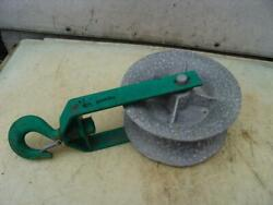Greenlee 12 Inch Sheave Cable Puller Tugger 8000lbs Nice Shape 2