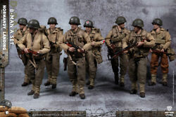 Crazy Figure 1/12 Lty001 Wwii Us Army Suit Normandy Landing 8pc Soldier Figure
