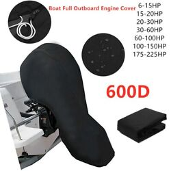 Fit 6 - 225hp Motor Full Outboard Boat Engine Cover 600d Oxford Waterproof New