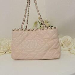 Chain Me Baby Pink Tote Bag 27 X 17 X 12.5 42cm Good Condition
