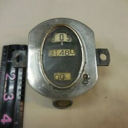 Vintage Stewart Warner Speedometer W/ Odometer And Trip Oval Roller 1920and039s 30and039s