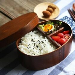Portable Box Wooden Bento Food Container Kitchen Accessories Lunch Box