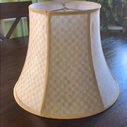 1 Mackenzie Childs Parchment Check Large Light Lamp Shade - 13.5 2 Available