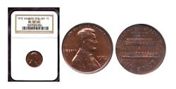 1972 1c Rare Double Die Obv Ms62rb Ngc-lincoln Wheat Cent++