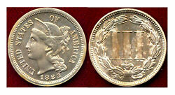 1883 Nickel 3c-low Mintage In Proof 6609 -2cents++