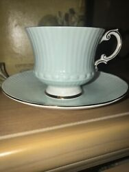Elizabethan Bone China Tea Cup And Saucer Green Made In England