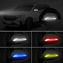 2x Reflective Safety Warning Strip Tape Car Door Bumper Reflector Stickers Decal