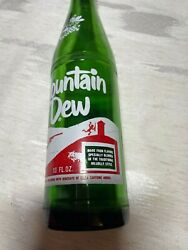 Rare Vintage Mountain Dew Hillbilly Laughing Pig Bottle With Cap 1960s