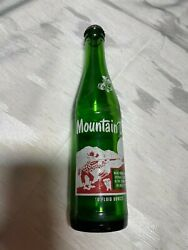 Rare Vintage Mountain Dew Hillbilly Green Bottle With Cap 1960s
