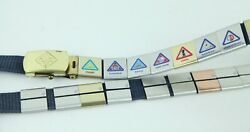Cub Scout Belt With 22 Metal Slides Loops Badges Brass Usa