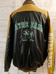 Steve And Barry's Notre Dame Fighting Irish Bomber Faux Leather Jacket Xl Nice