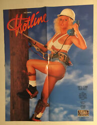 Rare Collectible Andldquohotlineandrdquo Movie Poster - Porn Star Taylor Wane 17 7/8 X 23