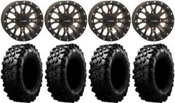 System 3 St-3 Bronze 14 Wheels 30 Carnivore Tires Yamaha Grizzly Rhino