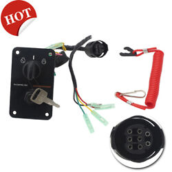 Outboard Single Engine Key Switch Assembly Panel Fits Yamaha Well Made
