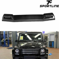 Fits 13-17 Mercedes G500 G550 G63 G63 G65 Front Roof Spoiler Wing Refit With Led