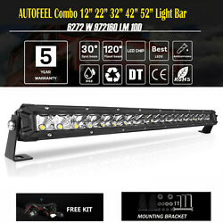 12 22'' 32'' 42'' 52inch Led Light Bar Work Single Row Beam 4wd Boat Offroad