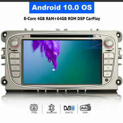 Android 10.0 Bt Wifi Autoradio Dvd Gps Navi For Ford Mondeo Focus S/c-max Galaxy