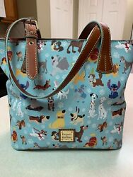 Disney Dooney And Bourke New 2017 Disney Dogs Blue Purse/tote Doug Placement