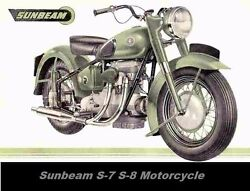 Sunbeam S7 S8 Motorcycle Parts Manual With Spares List Diagrams And Sidecar Info