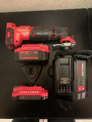 Craftsman Cmce500 20v Oscillating Tool ,charger, Two Batteries And Attachment