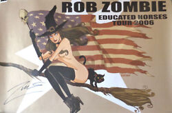 Autographed - 'rob Zombie Educated Horses Tour 2006' Poster 24x36 + Coa