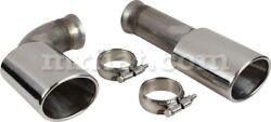 For Porsche 911/964 Stainless Steel Tail Pipe Set 1988-94 New