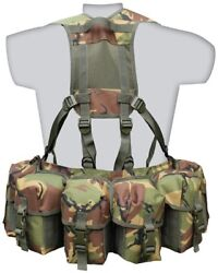 Airborne Webbing Padded Adjustable Molle Belt Pouches Dpm Btp Military Army K