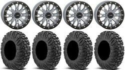 System 3 Sb-4 Grey 4+3 15 Wheels 32 Motovator Tires Rzr Turbo S / Rs1